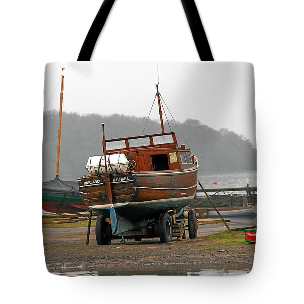 Lake Tote Bag featuring the photograph Waiting for summer by Christine Till