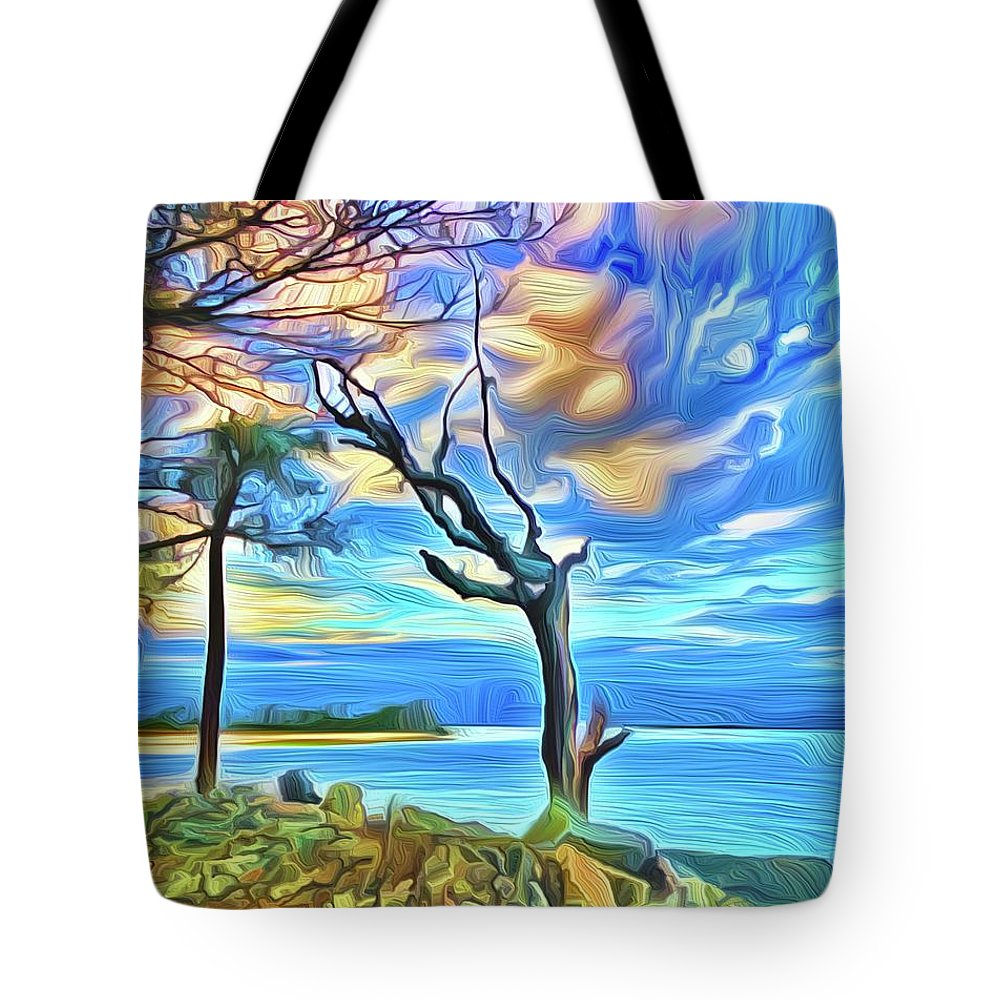 Tote Bag featuring the digital art Watchman by Michael Stothard