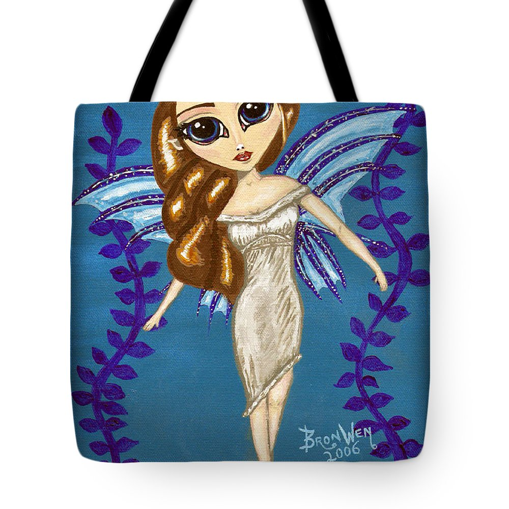 Fairy Tote Bag featuring the painting Water Element Fairy by Bronwen Skye