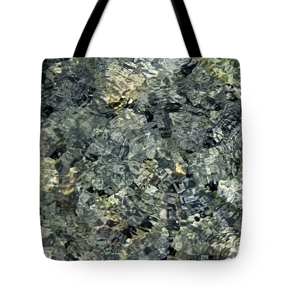 Water Tote Bag featuring the photograph Water Rocks 1 by Andre Aleksis