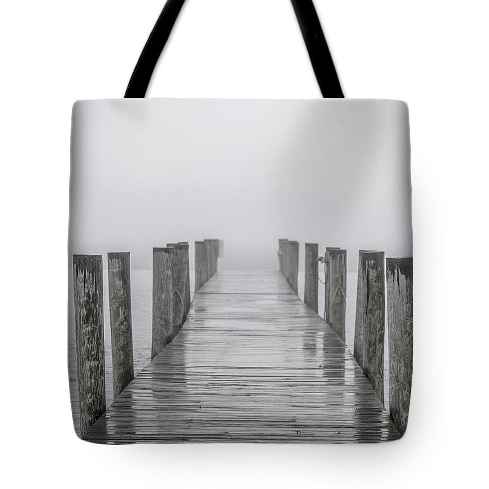 Dock Tote Bag featuring the photograph Wet Dock by Trevor Slauenwhite
