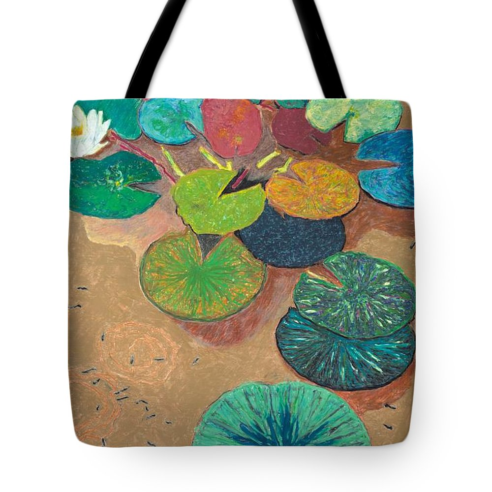 Landscape Tote Bag featuring the painting White Lily by Allan P Friedlander