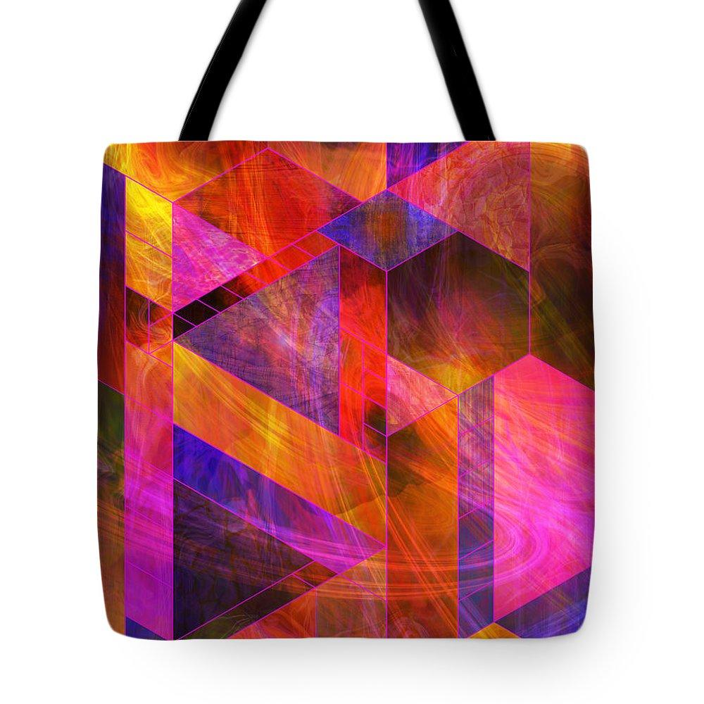 Wild Fire Tote Bag featuring the digital art Wild Fire by John Robert Beck