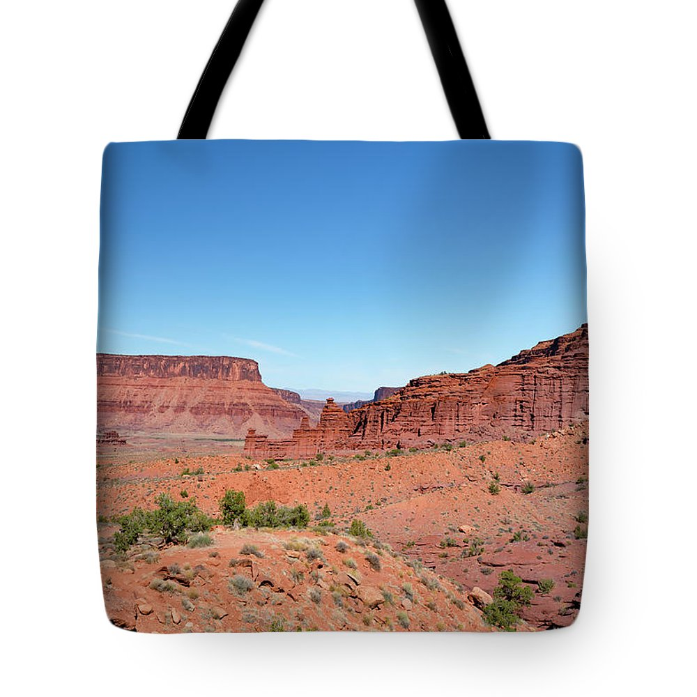 Fisher Towers Tote Bag featuring the photograph Wild Utah Landscape by Jim Thompson