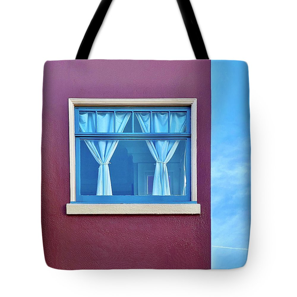 Tote Bag featuring the photograph Window and Sky by Julie Gebhardt