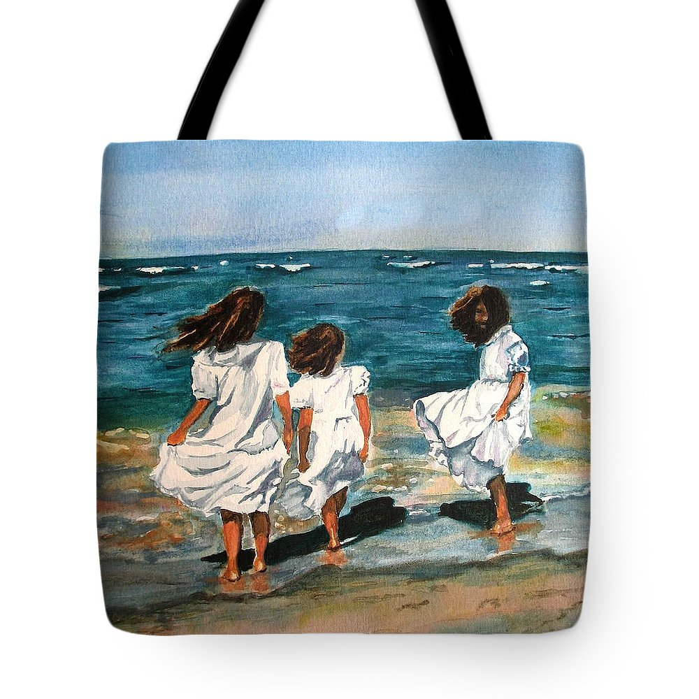 Girls Tote Bag featuring the painting Windy Day by Karen Ilari