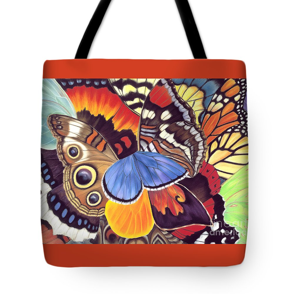 Butterflies Tote Bag featuring the painting Wings Of California by Lucy Arnold