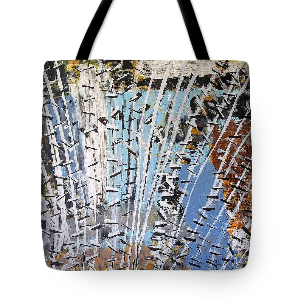 White Tote Bag featuring the painting Winter Forest by Pam Roth O'Mara