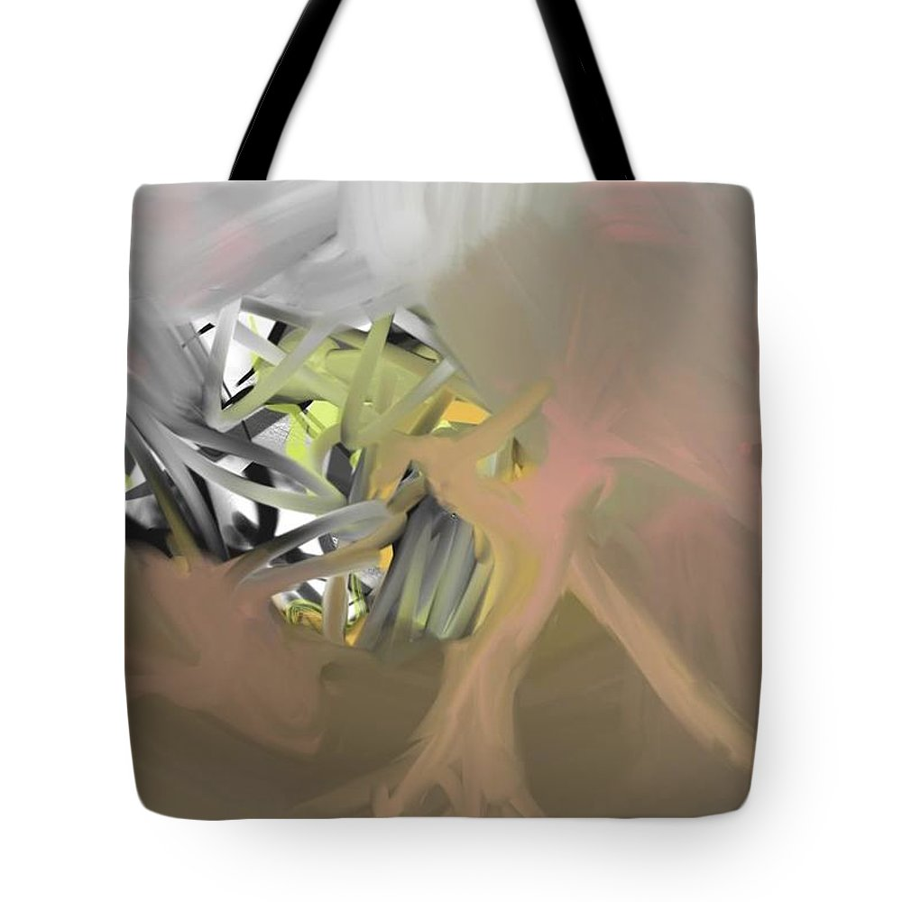 Tote Bag featuring the painting Xperium - Pixel/Digital by Doug Jerving