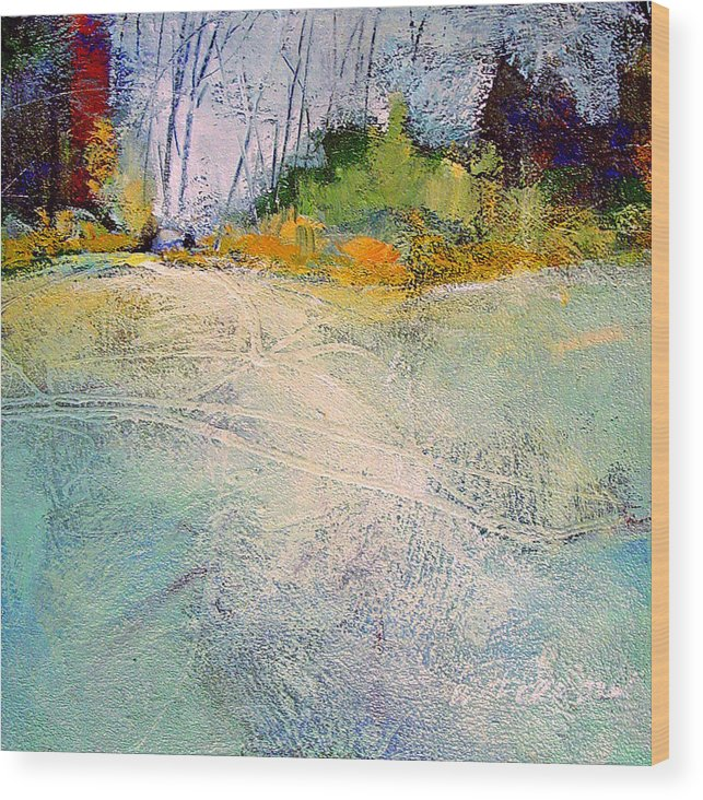 Landscape Wood Print featuring the painting First Frost by Dale Witherow