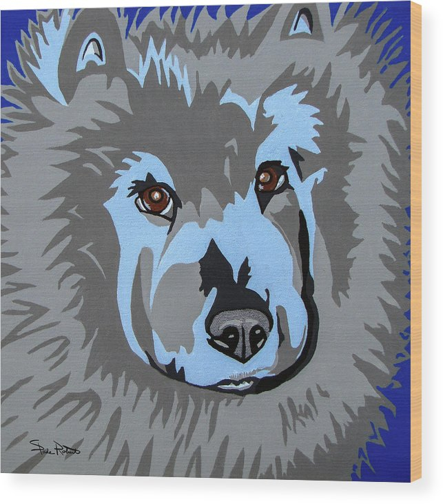Chow Wood Print featuring the painting Chow Chow by Slade Roberts