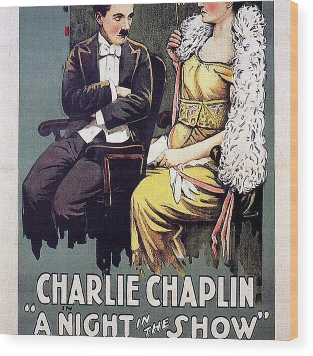 Charlie Wood Print featuring the painting Classic Movie Poster - A Night In The Show by Esoterica Art Agency