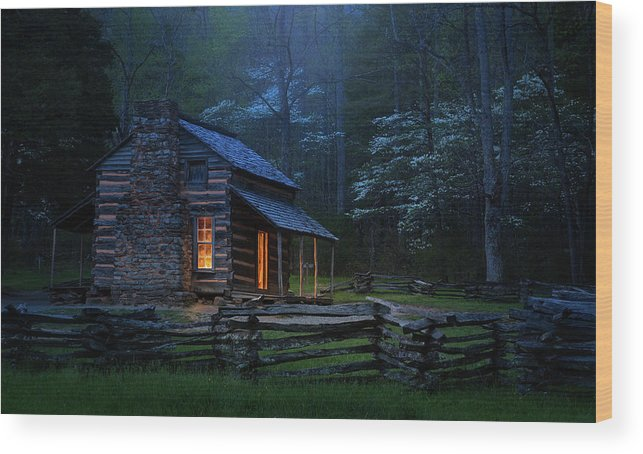 Cabin Wood Print featuring the photograph Back To Good Old Days by J&w Photography