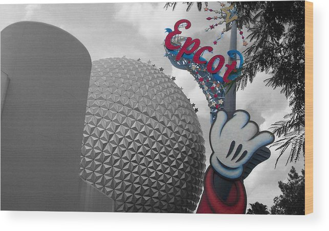 Epcot Wood Print featuring the photograph Epcot by Alexander Mandelstam