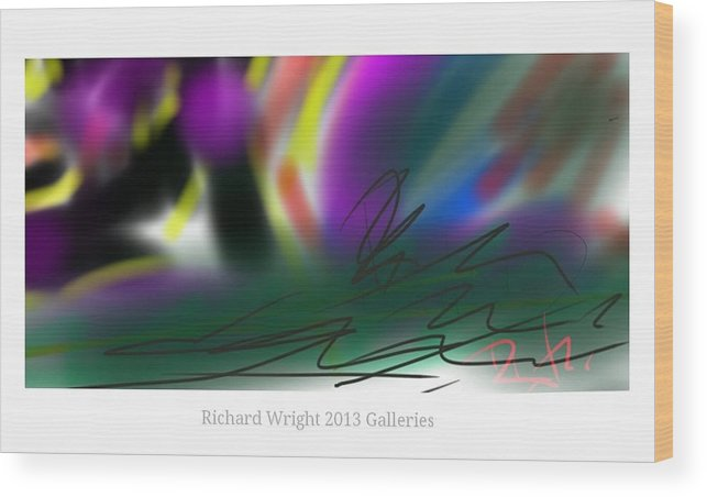 Abstract Wood Print featuring the digital art La Purple And Gold by Richard Wright Galleries