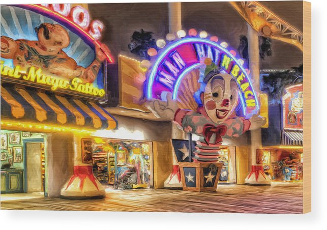Disneyland Wood Print featuring the painting Point Mugu Tattoo by Michael Pickett