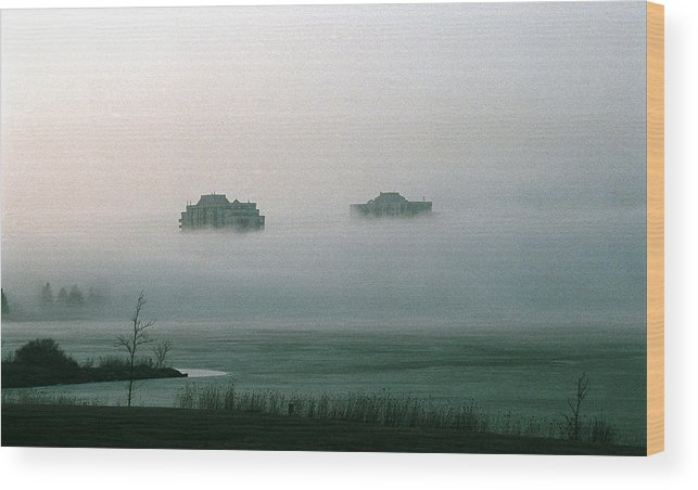 Landscape Wood Print featuring the photograph Rising From The Mist by David Porteus