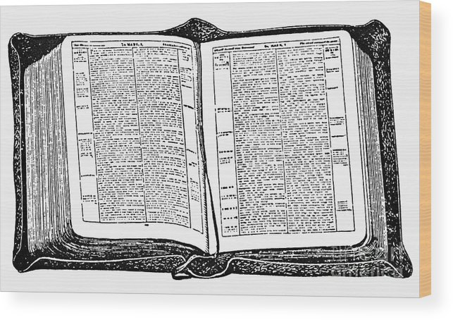 19th Century Wood Print featuring the photograph Bible, 19th Century by Granger