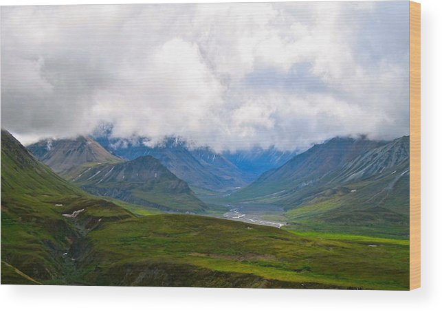 Alaska Wood Print featuring the photograph Cloudy Bravado by Michael Anthony
