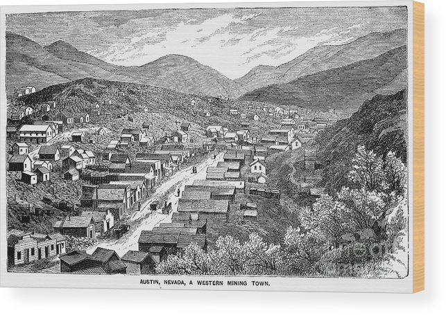 1880 Wood Print featuring the photograph Nevada: Austin, C1880 by Granger