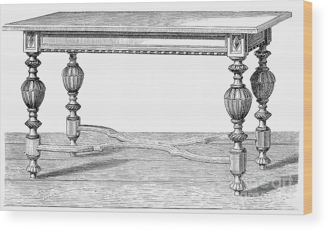 19th Century Wood Print featuring the photograph Table, 19th Century by Granger