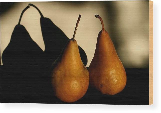 Still Life Wood Print featuring the photograph The Kiss by Steve Augustin