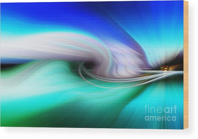 Art Wood Print featuring the photograph Abstract 0902 P by Howard Roberts
