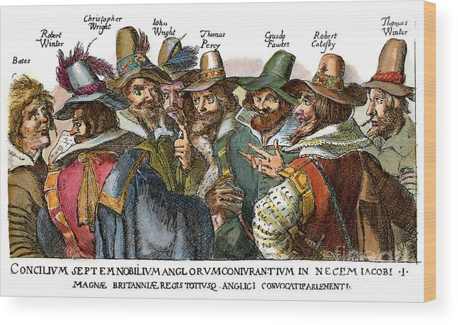 1605 Wood Print featuring the drawing Guy Fawkes, 1570-1606 by Granger