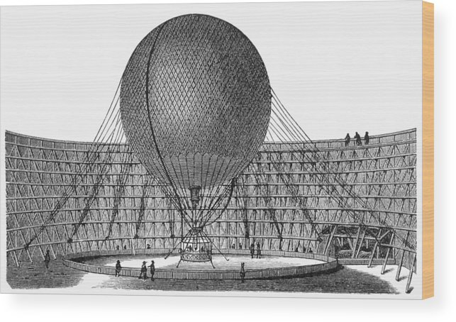 19th Century Wood Print featuring the photograph Henri Giffard: Balloon by Granger