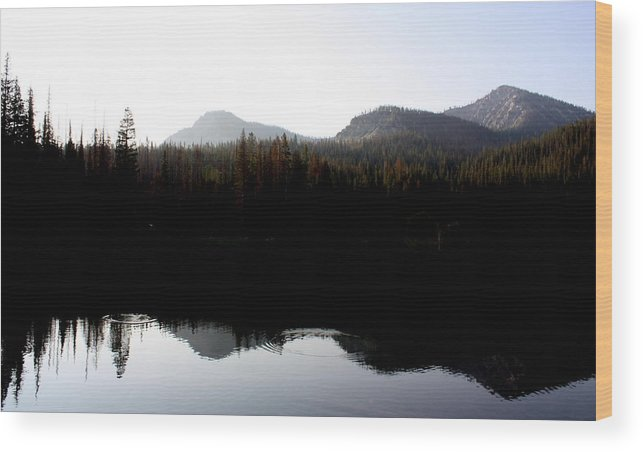 Nature Wood Print featuring the photograph Mountain Morning by Joseph Peterson