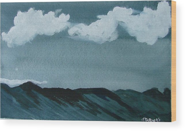 Moutains Wood Print featuring the print Mountains by Dottie Briggs