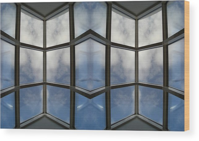 Clouds Wood Print featuring the photograph Reflected Reflections 05 by Marilynne Bull