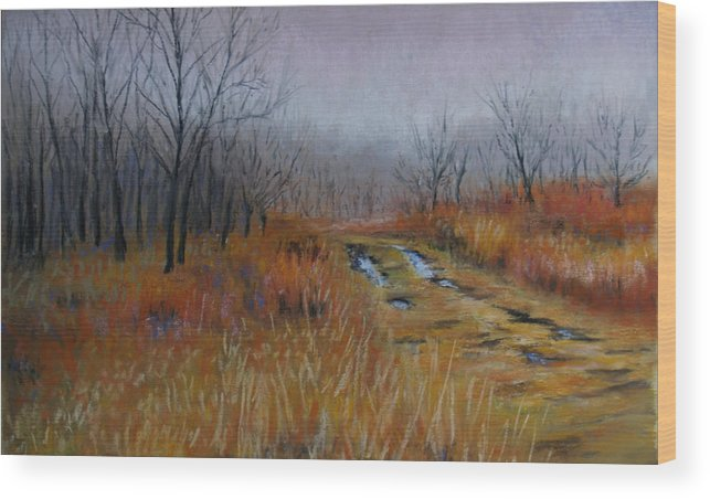 Landscape Wood Print featuring the painting Road Of Hope by Susan Jenkins