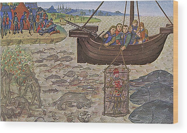 Diving Wood Print featuring the drawing Alexander The Great, King Alexander IIi by Mary Evans Picture Library