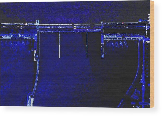 Engineering Aerial China Water Lake Dam Wood Print featuring the digital art Three Gorges Dam 5 by Mark Van Norman