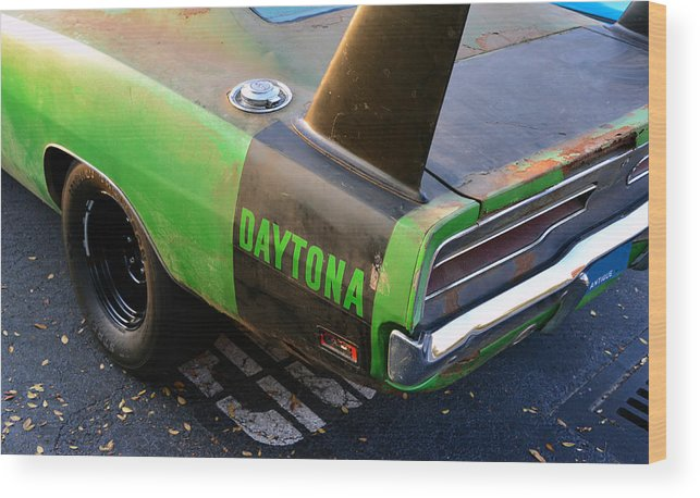 1970 Dodge Daytona Charger Wood Print featuring the photograph 1970 Dodge Daytona Charger by David Lee Thompson