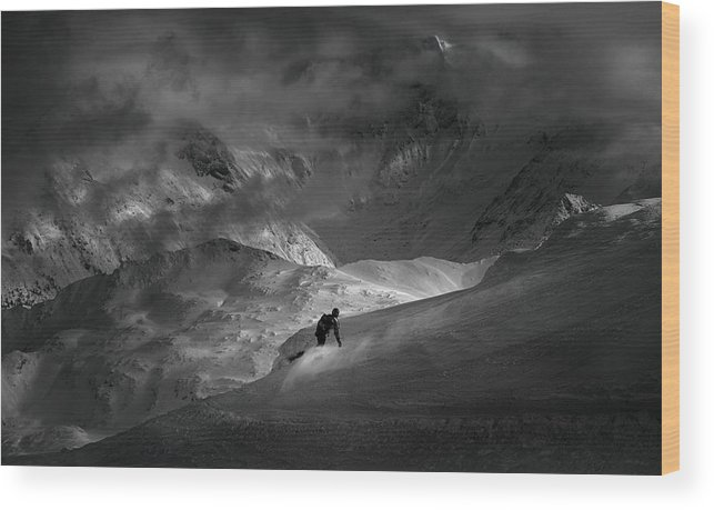 Action Wood Print featuring the photograph Adventure With Concerns by
