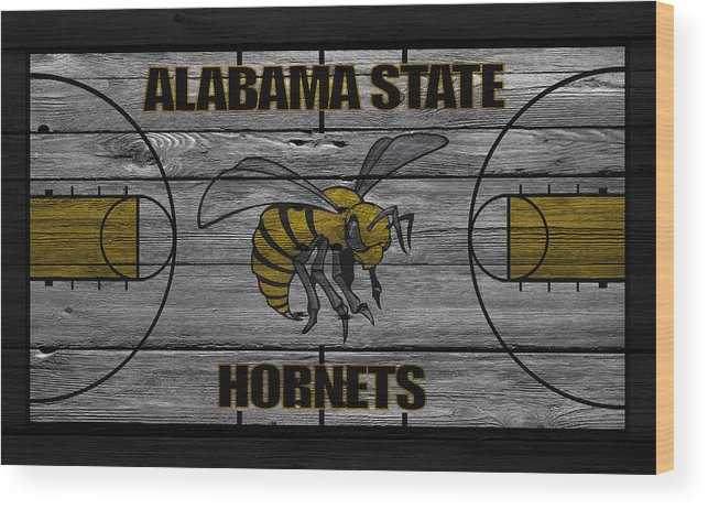 Hornets Wood Print featuring the photograph Alabama State Hornets by Joe Hamilton