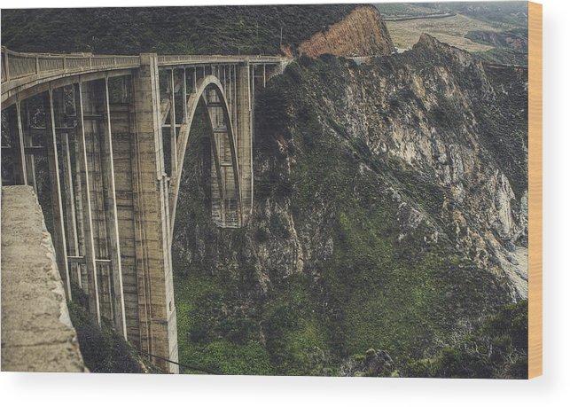 Bixby Bridge Wood Print featuring the photograph Bixby Bridge by Kenny Noddin