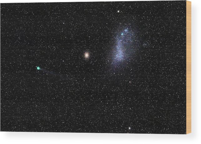 Comet Lemmon Wood Print featuring the photograph Comet by Luis Argerich