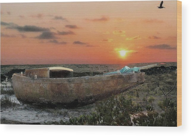 Boat Wood Print featuring the photograph Fading Away by William Griffin