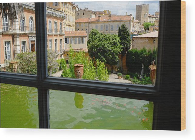 Courtyard Wood Print featuring the photograph French Courtyard by August Timmermans