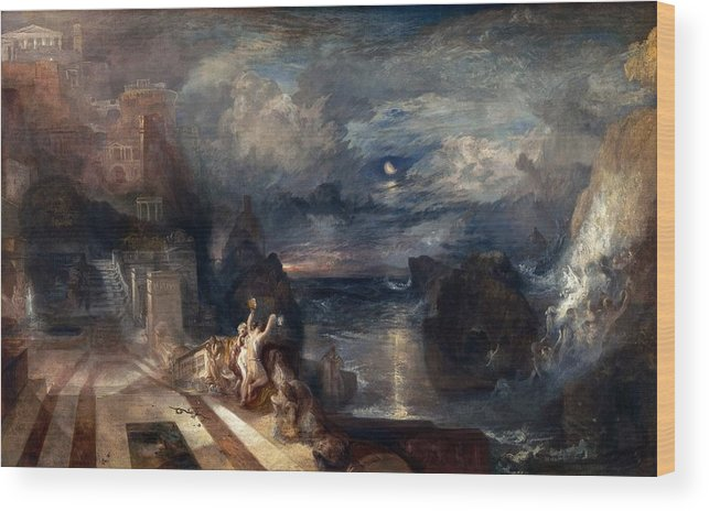 1837 Wood Print featuring the painting Hero And Leander's Farewell by JMW Turner