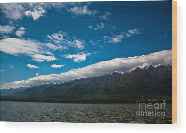 Landscape Wood Print featuring the photograph Long White Cloud by Kamen Ruskov