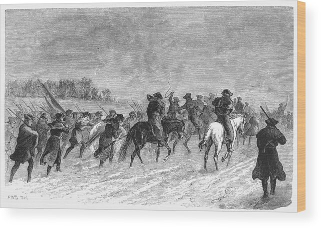 1776 Wood Print featuring the photograph March To Trenton, 1776 by Granger