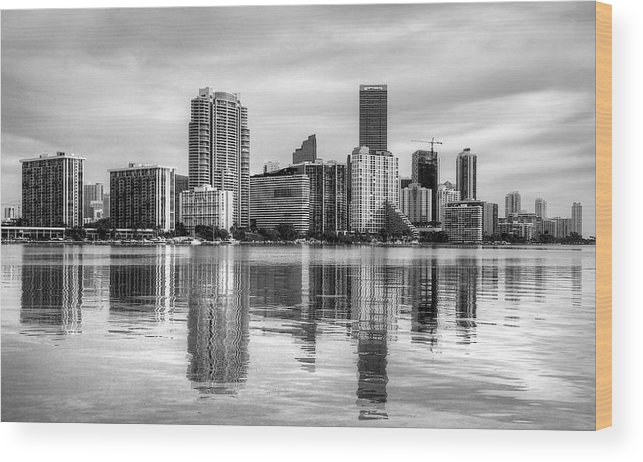 Miami Wood Print featuring the photograph Reflections On Miami by William Wetmore