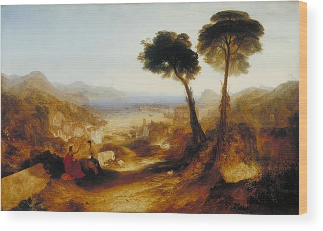 1823 Wood Print featuring the painting The Bay Of Baiae With Apollo And The Sibyl by JMW Turner