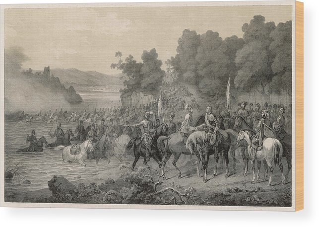 Events Wood Print featuring the drawing The Meeting Of The Protestant Leaders by Mary Evans Picture Library