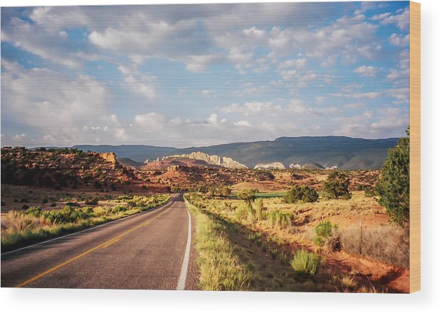 Utah Wood Print featuring the photograph The Road Less Traveled by Stacy Abbott