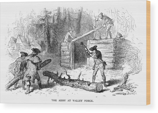1777 Wood Print featuring the photograph Valley Forge: Huts, 1777 by Granger